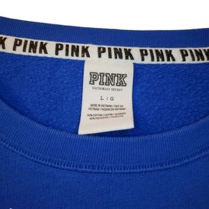 PINK Victoria's Secret Tops - PINK Color Block Spellout Sweatshirt